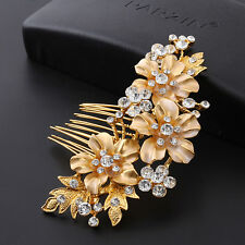 Vintage Handmade Wedding Party Hair Comb Crystal Bridal Accessories