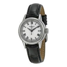 Tissot Carson White Dial Black Leather Ladies Watch T0852101601300