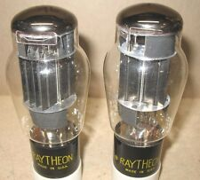 NOS Matched Pair 1957 Raytheon 6AS7G Tubes