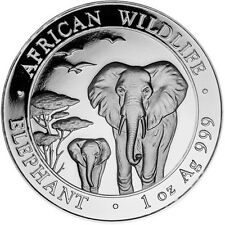 2015 Silver Somalian Elephant Coins - 20 oz Total .999 (BU/Lot/Roll/Tube of 20)