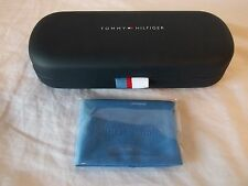 TOMMY HILFIGER NAVY BLUE HARD EYE GLASSES CASE W/ CLEANING CLOTH NEW & AUTHENTIC