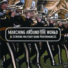 16 MILITARY BAND PERFORMANCES MARCHING AROUND THE WORLD NEW CD MILITARY / BRASS
