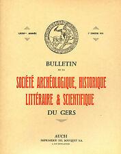Bulletin de la Société Archéologique du GERS, 1-1974. Préhistoire, Palombe...