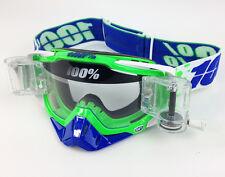 100% por ciento Racecraft Motocross Gafas Alquimia con gsvs Roll Off sistema