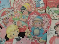 Lot of 12 Adorable VINTAGE VALENTINES DAY DIE CUTS 4 CRAFTS | V1