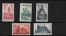 FRANCE 1947 NATIONAL RELIEF FUND / CATHEDRALS, MNH, SG992/6, CAT £16