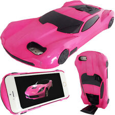 3D Hot Pink American Car Case for Apple iPhone 6 Plus / 6S Plus Hard Stand Cover