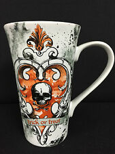 "CLEARANCE 222 Fifth ""The Forest"" - Huge Latte Mug - Trick or Treat Skull - 22oz."