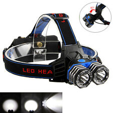 6000Lumen 2X CREE XML T6 LED Hunting Headlamp Headlight Head Lamp Torches AAA AA