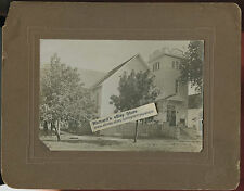 """Antique Matted Photo - Church in Cissna, Park, Illinois Reads """"Dad Built This"""""""