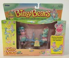 1991 Tyco Bitsy Bears Pair Set TeeterBear TotterBear See Saw In Original Box