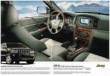 Publicité Advertising 2006 (2 pages) Nouveau Grand Cherokee Overland Pack