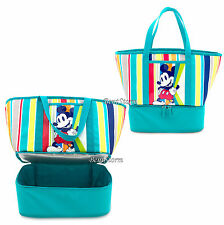 2016 Mickey Mouse Insulated Zip Cooler Tote Beach Picnic Lunch Bag Disney Store