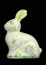Antique Vintage Unusual Glass Easter Bunny Rabbit Candy Container