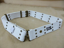 US ARMY WW2 MP Koppel Lochkoppel Military Police pistol belt weiss 130cm