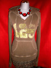♥ BERSHKA ♥ HOODY SWEATJACKE SHIRT ARMY  RoCKaBiLLy  PRINT M L 38 NEUW.! TOP