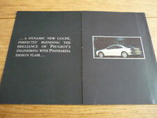 PEUGEOT 406 COUPE BROCHURE jm