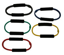 WORKOUTZ SET OF 5 ANKLE O-LOOP RESISTANCE BAND TUBES BUTT LIFT EXERCISE STEPPER