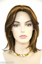 Expresso/Sunberry/Fox Red Red Medium Skin Top Straight Wigs