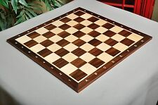 "USCF Sales Rosewood & Maple Wooden Chess Board - 2.25"" With Notation/No Logo"