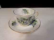 Queen's Lily of the Valley Forget-me-not Fine Bone China Rosina Tea Cup & Saucer