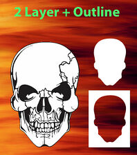 Skull 14 Special Two Layer Airbrush Stencil Spray Vision Template air brush