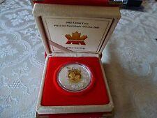 2002 LUNAR HORSE $15 CANADA 925 SILVER COIN w BOX COA  RARE UNCIRCULATED