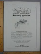 Rare Orig VTG 1935 Brooks Brothers Clothing National Horse Show Ad Art Print