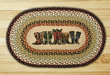 """COWBOY BOOTS 20""""x 30"""" JUTE RUG : BRAIDED COUNTRY COWGIRL WESTERN FLOOR MAT"""