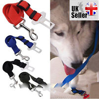 Dog Cat Pet Safety Travel Seat Belt Restraint Harness Clip For Car Van Lead