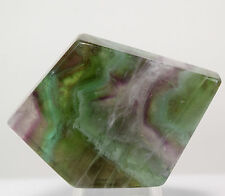 43mm Natural Chevron Fluorite Slab Colorful Gemstone Crystal Mineral from China