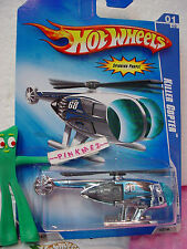 2009 Hot Wheels KILLER COPTER #107/190 ~chrome/blue; Channel 68~HW City Works