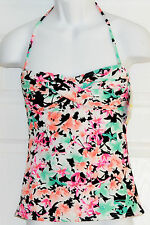 Hobie In Bloom Twist Bandeau Bikini Tankini Top Sz M