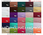 Pure Solid Pashmina Silk Wool Shawl Scarf Stole Wrap SIZE 78X28*US SELLER*