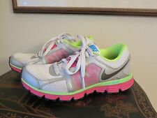 Womens NIKE Dual Fusion ST2 Running Shoes size 6.5 Lime Green Pink