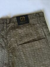 VINTAGE 1990S GUCCI MONOGRAM INSPIRED STRAIGHT LEG PANTS SIZE 42 RAVE HIP HOP