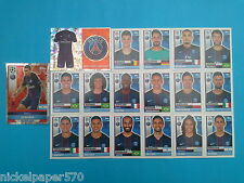 Topps Champions League 2016-17 Team Paris Saint-Germain 2016 2017 completo