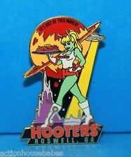 HOOTERS SEXY BLONDE ALIEN GIRL - IT'S OUT OF THIS WORLD - ROSWELL GA LAPEL PIN