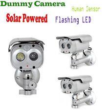 3x Motion Detection CCTV Security Fake Dummy Camera Solar Powered W/Flashing LED