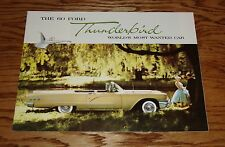1960 Ford Thunderbird World's Most Wanted Car Foldout Sales Brochure 60