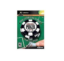 XBOX WORLD SERIES OF POKER THE OFFICIAL GAME NEW FACTORY SEALED!
