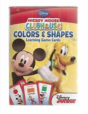 disney mickey mouse clubhouse colors and shapes learning game cards new