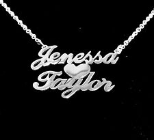 Personalized 2 Name Necklace , Sterling Silver 925 - Couple Name Necklace.