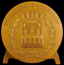 Médaille Ville de Villeneuve-sur-Lot Blason armes 59 mm medal
