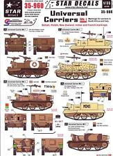 Star Decals 1/35 UNIVERSAL BREN CARRIER Mk.I North Africa & Italy