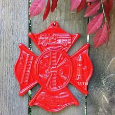 Honorable Metal Fireman Fire Fighter Plaque Wall Sign Monument Emblem Insignia