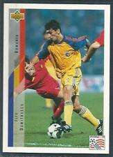 UPPER DECK WORLD CUP USA 1994- #205-ROMANIA-TOTTENHAM- WEST HAM-ILIE DUMITRESCU