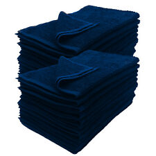 24 NEW BLUE SIZE 16X27 inches SALON BASICS COTTON ٰGYM TANNING HOTEL HAND TOWELS