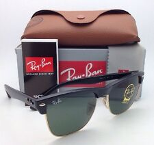 Ray-Ban Sunglasses CLUBMASTER OVERSIZED RB 4175 877 Black & Gold Frame w/ Green