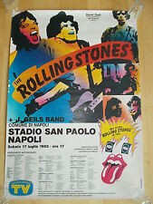 +++ 1982 ROLLING STONES Concert Poster Italy Napoli 1st Print! SUPER-RARE!